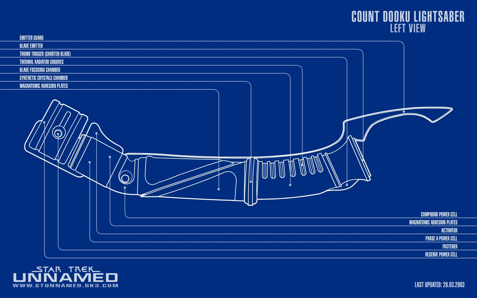 Count Dooku Lightsaber Schematic Left View by NapalmKing 2D ... on