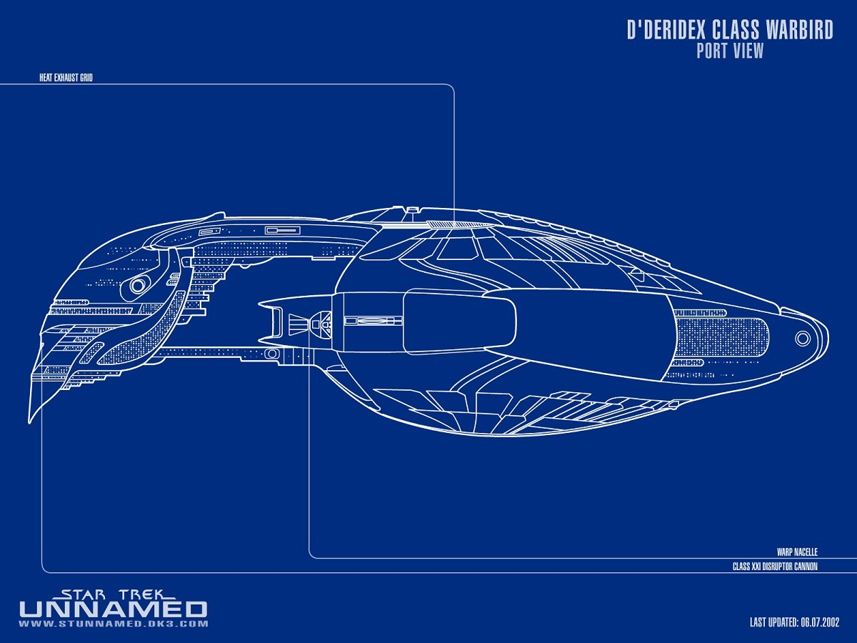 D Deridex Cl Starship Schematic Port View by NapalmKing 2D ... on