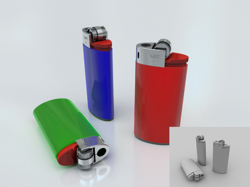 bic lighter by the_bully Cinema 4D Realism