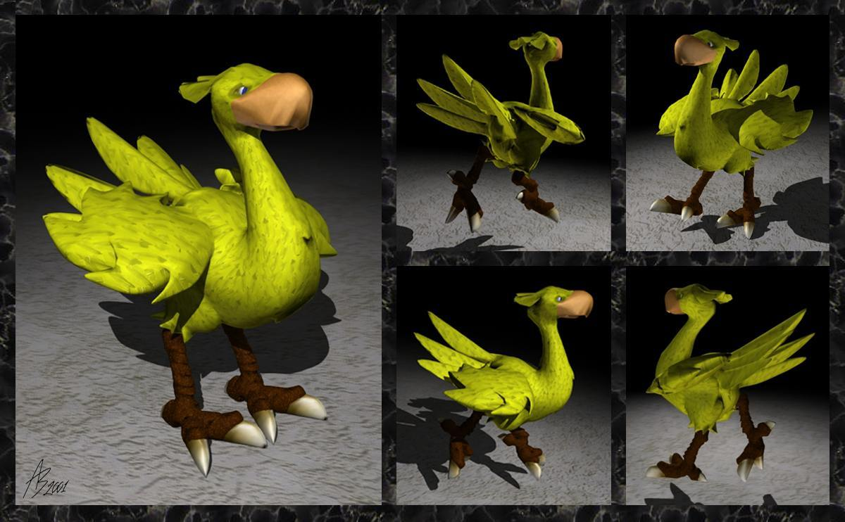 Posable Chocobo - (Multiple Views)