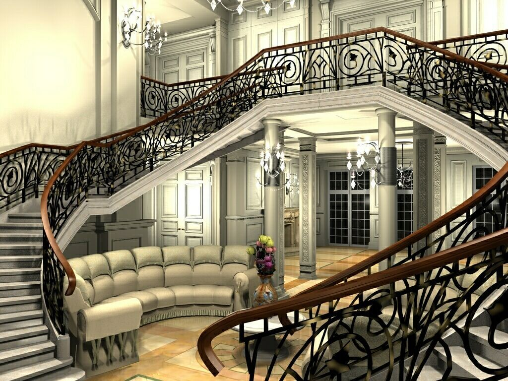 Entrance hall re updated by podlovics cinema 4d architecture for Cinema 4d architecture