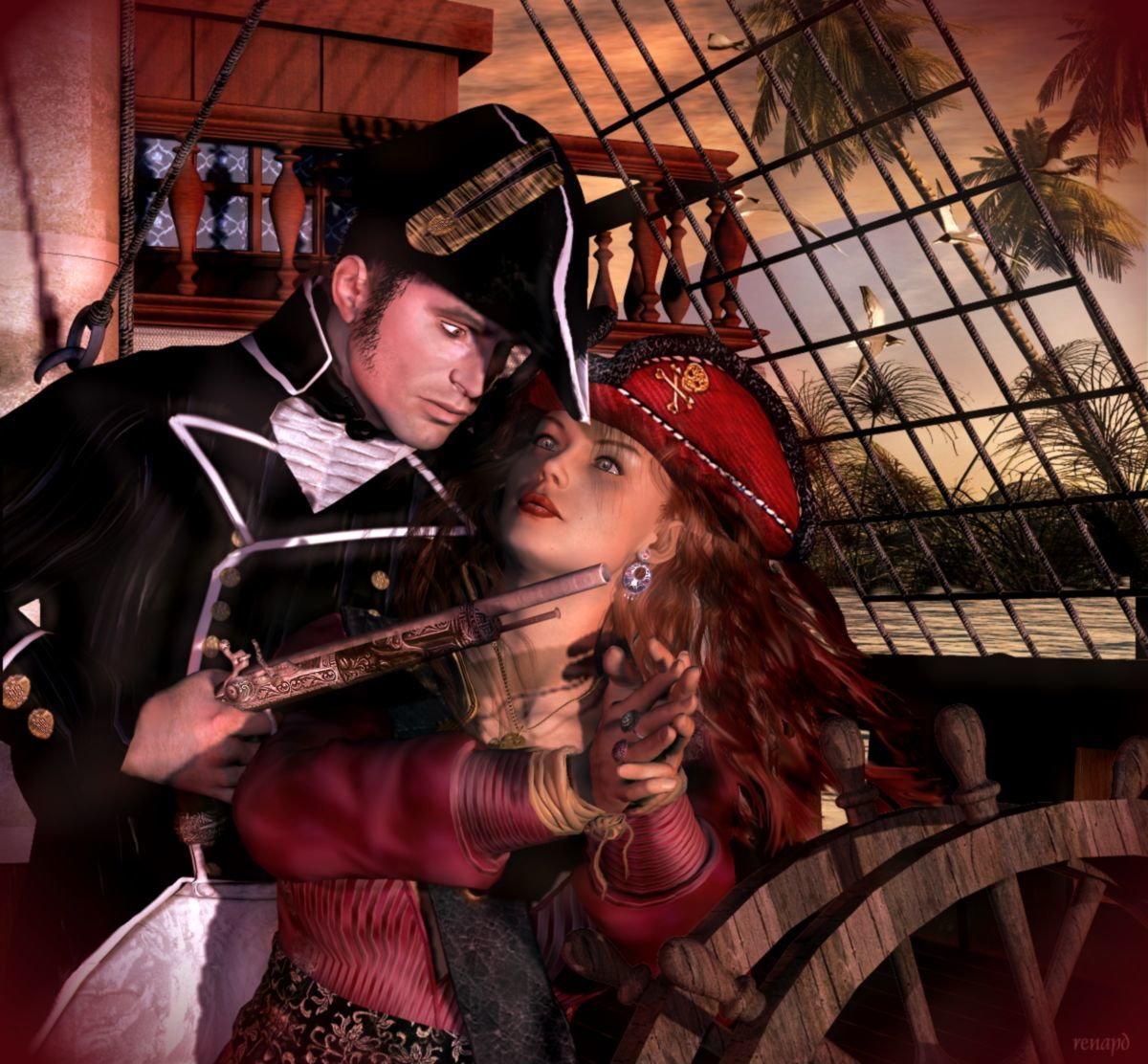 Captain Anne-Rouge Series: #4 First Glance by -renapd-