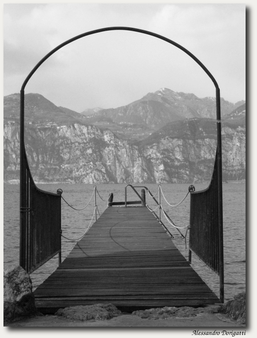 Arch on the lake