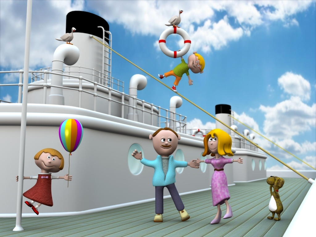 Ugly family on board by micaelito